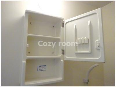 浴室にある収納スペースOPEN