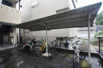 「屋根付きの駐輪場」