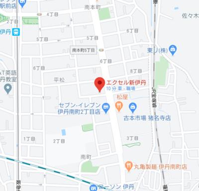 【地図】エクセル新伊丹