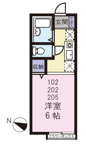 1Kのお部屋