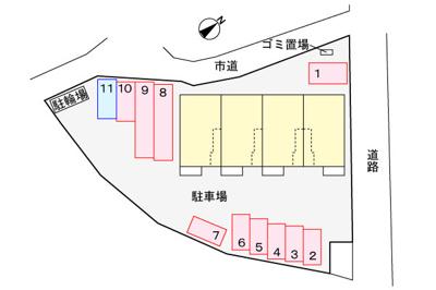 【区画図】メゾン藤・参番館