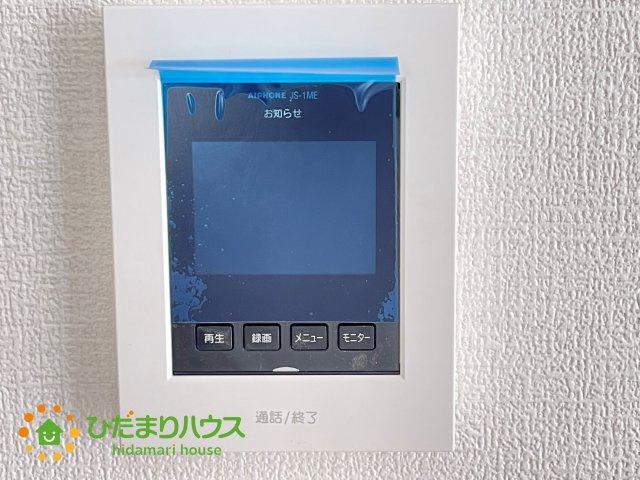 TVモニター付きインターフォンで防犯面も安心です!!
