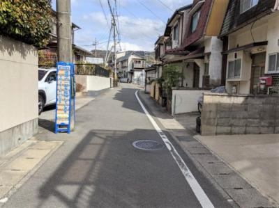 【前面道路含む現地写真】京都市山科区四ノ宮山田町