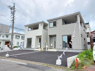 【前面道路含む現地写真】名古屋市中川区福船町3丁目 新築一戸建て