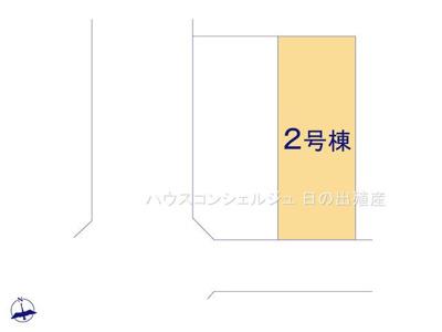 【区画図】名古屋市中川区福船町3丁目 新築一戸建て
