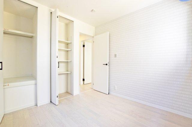 ‐同社施工例‐ 全居室収納がありますのでスッキリと片付きます。