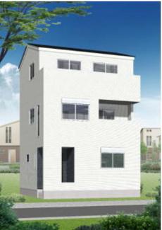 【外観パース】新築一戸建 川崎市幸区古市場2丁目 2号棟