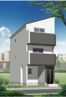 【外観パース】新築一戸建 川崎市幸区古市場2丁目 1号棟