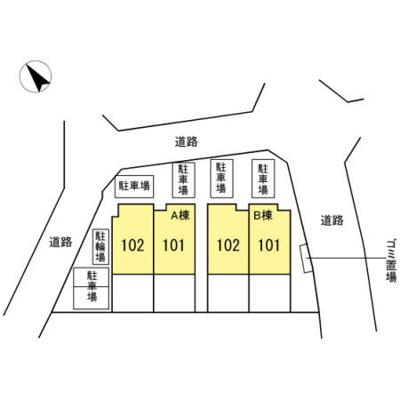 【区画図】ヒルズコート B
