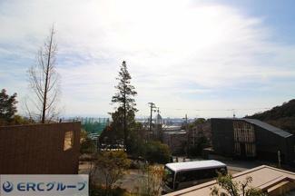 神戸の街並みが一望できる立地です。