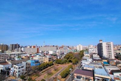 【展望】大島スカイハイツ  10階 角 部屋 2014年 リ ノベーション済