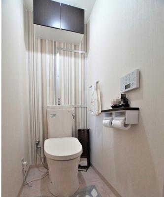 【トイレ】大島スカイハイツ  10階 角 部屋 2014年 リ ノベーション済