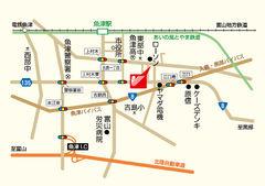 【地図】La vie belle TakedaⅡ
