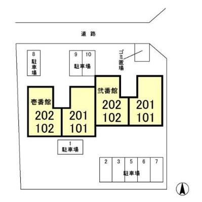 【区画図】パティオ 壱番館