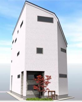 ◇Appearance◇土地の特徴を最大限活かす建物プランをご提案しております。もちろんカラーセレクト可能です♪【坪庭側からのイメージ】