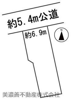 【区画図】56048 岐阜市此花町土地