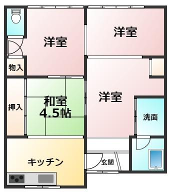 土地面積96.03㎡ 建物面積41.75㎡ 4K