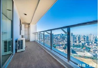 【バルコニー】パークタワー晴海 44階部分 2019年築 空室