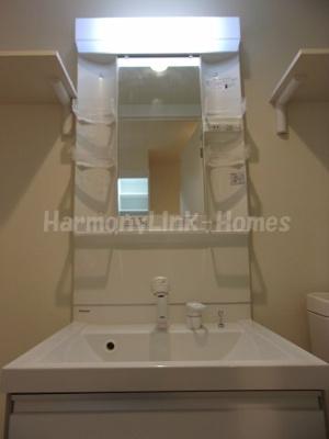 ブランニューデイズ梅島の独立洗面化粧台が付いています