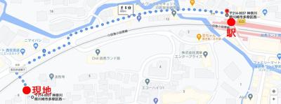 【地図】トラストレジデンス読売ランド前