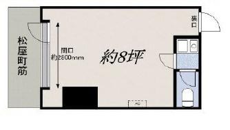 【外観】大通り沿い 物販 徳井町 谷町四丁目駅