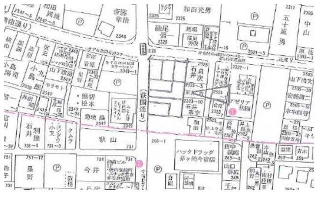 【地図】土地 茅ヶ崎市萩園 №4