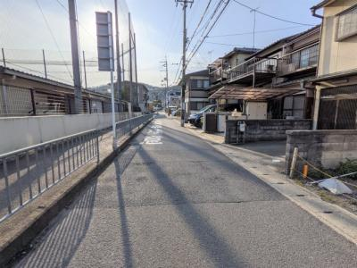 【前面道路含む現地写真】京都市山科区御陵荒巻町