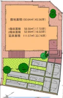 【区画図】アルビオコート和合 新築物件 MI