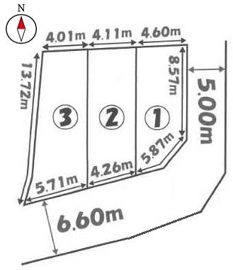 【区画図】京都市山科区音羽前出 3区画3号地