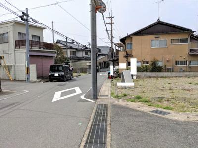 【前面道路含む現地写真】京都市山科区音羽前出 3区画3号地