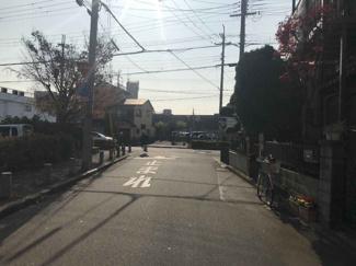 【前面道路含む現地写真】尼崎市南武庫之荘 売土地