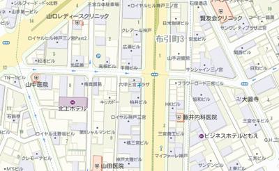 三宮駅から徒歩4分の立地条件です。