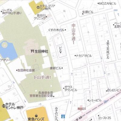 【地図】フォレストビル