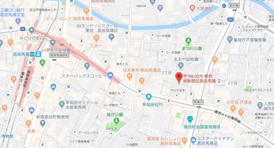 【地図】ボア・ソルト高田馬場