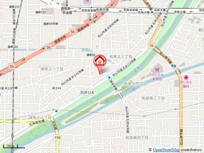 【地図】LUMIELE和泉