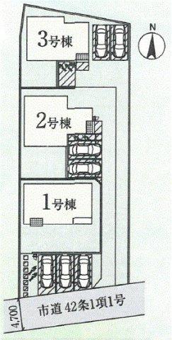 3号棟 カースペース2台以上可能です。