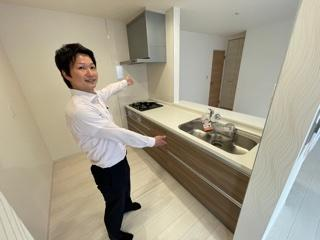 【キッチン】緑区小坂2丁目 2号棟<仲介手数料無料>新築一戸建て