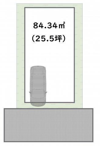 十分な広さの84.34㎡の敷地です!