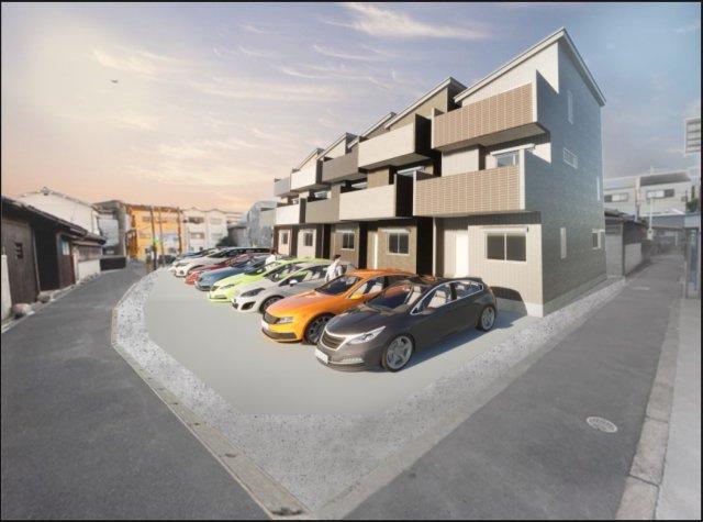 全5区画の新規分譲地! 各戸建2台駐車可能のゆとりある外構スペース