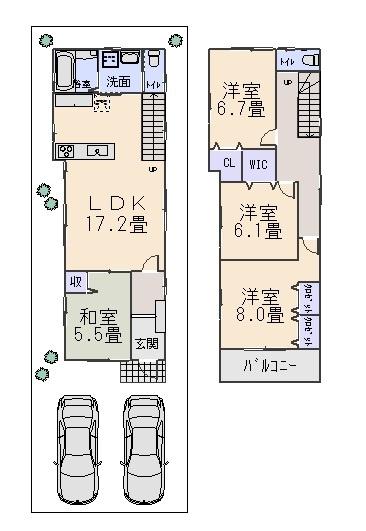 堺市中区八田西町2丁新築一戸建て(八田荘西小学校)