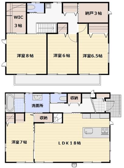 つくばみらい市陽光台 北東角地 オール電化 長期優良住宅