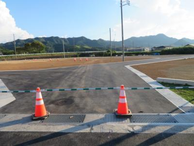 分譲地入口より撮影(7月27日現在)D号地付近