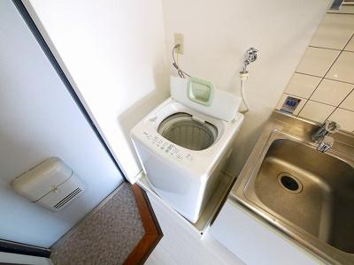 嬉しい洗濯機付き