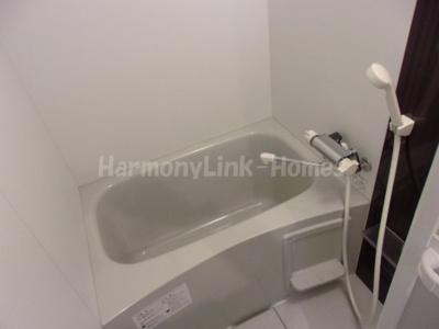 ハーモニーテラス栗原のバスルーム(浴室乾燥機付ですのでお風呂場での物干しも可能です)☆
