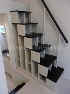 ハーモニーテラス栗原の収納付き階段(昇降が安全です)☆