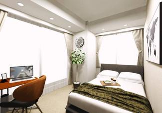 居室にはすべて収納もあり、お部屋もスッキリ片付きます。(イメージパース)