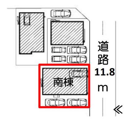 【区画図】沼津市中瀬町 新築一戸建て 南棟 FF