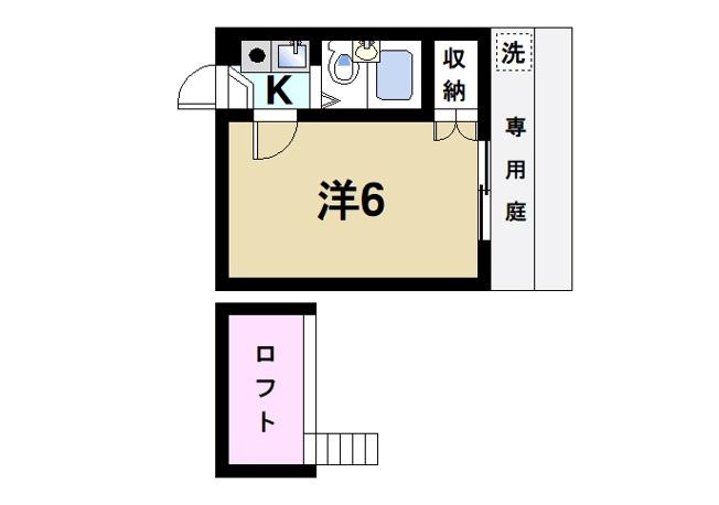 お一人暮らしにピッタリの1Kのお部屋です。