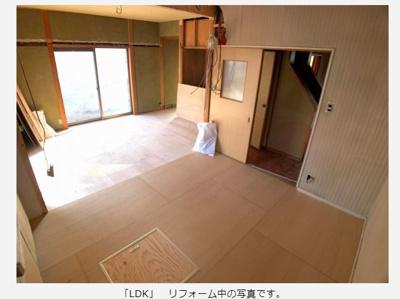 【居間・リビング】倉敷市東塚 中古住宅