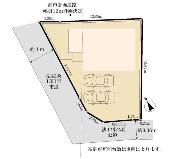 【区画図】新築 藤沢市鵠沼藤が谷3丁目
